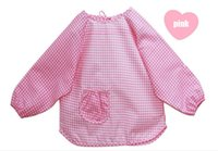 Wholesale baby bibs Waterproof baby feeding apron smock infant overall dustcoat newborn pinafore overclothes years colors