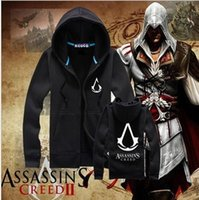 Wholesale Newest Assassins Creed Casual Zipper men s Hoodie jacket Adult Unisex Cosplay Costume High quality