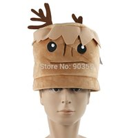 Wholesale Cartoon Movies Guardians of the Galaxy Plush Hat Toys Tree People Groot Soft Stuffed Cosplay Cap For Children