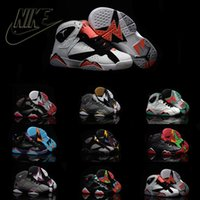 toe shoes - Nike Air Jordan Retro VII Children s Leather Shoes Kids Running Shoe Casual Boots Air Jordans Sneakers J7 Kid Sport Baby Shoes
