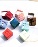 Wholesale Hot Fashion Jewelry Box Multi colors Rings Box Earrings Pendant Box Display Packaging Gift Box