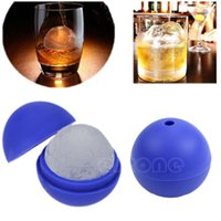 Wholesale DIY Tool Silicone Wars Death Star Round Ice Cube Mold Tray Desert Sphere Mould