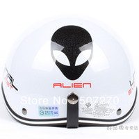 alien helmet - B Taiwan quot EVO quot ABS Bicycle Cycling Helm Open Face Motorcycle Gloss White quot Alien quot Helmet amp UV quot W