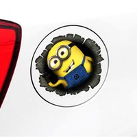 Wholesale Despicable Me Minions Car Decals Stickers Cute Funny Cartoon Glue Sticker Car Decal Covers Waterproof Reflective on fuel tank