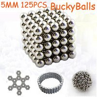 magnetic balls - 5MM Silver Magnetic puzzle Neodym magnet Cube Bucky balls Toy Magnetic Buckyballs