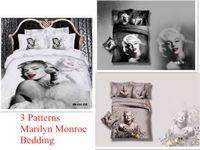 Cheap Wholesale-*3d Your Life! 100% cotton QUEEN duvet cover set no filling marilyn monroe bedding