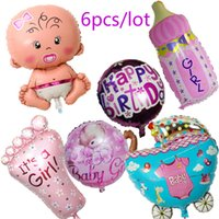 air ballons - Globos Baby Shower Air Balloons st Birthday Party Decoration Foil Ballons Baby Girl Boy Happy Birthday Helium