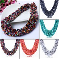 Wholesale New Arrival Women Bubble Bib Statement Necklace Lady Jewelry Chokers Necklace For Party Giving Gifts Style Choose XL5635