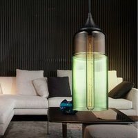 glass dining room - Modern pendant lights Vintage Edison bulb hanging lamp Retro bar glass chandelier Dining room lighting fixture