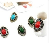 american treasures - 2015 fashion jewelry double sided studs earrings for women piercings crystal Earrings European and American vintage jewelry treasure stone l