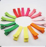 character ribbon - 1 quot DIY hair Accessory clips Baby girl Ribbon Hair Bows Clip Ribbon Lined Alligator Hair Clips colors
