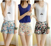 Wholesale High fashion designer brand new South Korea women s fashion summer fashion cotton shorts with high waist shorts size