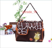 Wholesale 30 BBA5621 animal diaper bags Large Capacity mummy bag nappy bag zebra giraffe bag Multifunction storage bags Cross Body Bags handbag totes