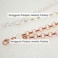 Wholesale Panpan support for blending quot silver plated and rose gold plated custom rolo chain