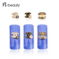 accessories brand names - Glitter Brand Name Gold Alloy Nail Art Decorations Colorful Shiny Rhinestone d Nail Jewelry DIY Nail Accessories