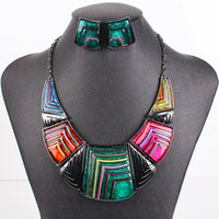 Wholesale MS17281 Fashion Jewelry Sets High Qulity Chunky Necklace Bridal Jewelry Colors Gunmetal Plated Party Gifts New