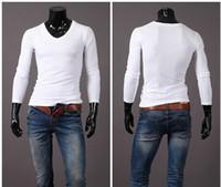 brand fashion t-shirt - Promotion NEW Original Unique Design Mens T shirts cotton long sleeve Fashion Casual Slim t shirt brand casual men Slim fit