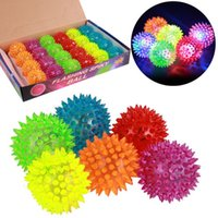 balls hedgehog - Soft Rubber Flash Ball LED Flashing Ball Light Jump Ball Boy Gift Bouncy Balls Toy Led Flash hedgehog Ball Kid s Toys Christmas Birthday