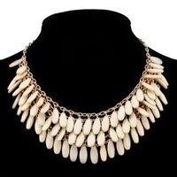 Wholesale 2015 New Fashionable Bright Flower Rhinestone Statement Necklace