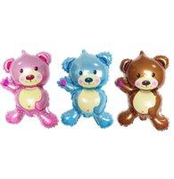 bear birthday supplies - mini bear balloon foil balloons birthday wedding party Decoration supplies cm