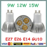 Spotlight LED 9W CREE GU10 LED 9W Spot Bulbs Light E27 E26 E14 B22 MR16 Dimmable 110-240V 12V Downlights for Home Warm Natural Cool White
