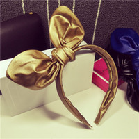 Wholesale The new Korean goods to Europe and America punk rock heavy metal paint Tapa bow hair bands headband hair accessories