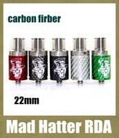 hatter - 2015 newest mad hatter rda carbon fiber rda rebuildable atomizer with Wide Bore Drip Tip Mad hat for mods VS Doge V2 RDA ATB298