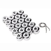 Wholesale 17mm Wheels Nut Bolt Cover Caps Universal for Volkswagen VW Golf Bora AUDI Black Silver