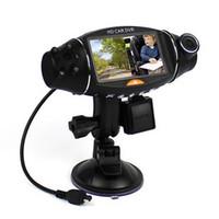 Precio de Cámaras de lentes de porcelana-2,7 pulgadas de 270 grados GPS G-sensor de infrarrojos de visión nocturna de TFT LCD dual Dash 2 lente de la cámara del vehículo HD DVR Kit Car Cam Video Recorder R310