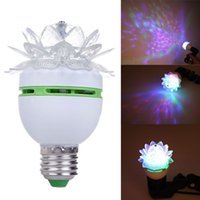 Wholesale B22 W Colorful Auto Rotating RGB LED Bulb Stage Light Party Disco Lamp PTSP