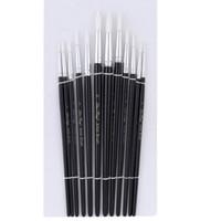 Wholesale 12Pcs Nylon Hair Paint Brush pen Set pinceis para pintura Water Color Oil Painting brochas Tool pinceles acuarela art supplies