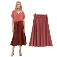 america on line - SZ1390 Autumn New Europe and America over the United States put on a large ultra modern complex long section Skirts