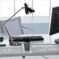arm desk led lamp - 2015 new style modern LED three sections of dimmer folding desk lamp office study original table light eye protection long arm metal dimmabl