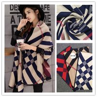 knitted cashmere scarf - Warm Patchwork Autumn Winter Women Cardigan Cape Outerwear Coat Cashmere Plaid Blanket Scarf Shawl Knitted Cloak Capes and Ponchoes C013