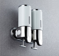 Wholesale Wall Mount Pumps Stainless Steel Pumps Twin Shampoo Soap Dispenser