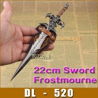 world of warcraft - World Of Warcraft Frostmourne Sword cm in length Replica with back board sets Copy WOW sword