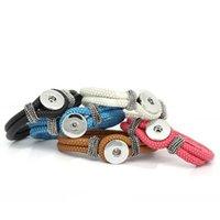 amazon chain - Amazon Hot Multicolor Artificial Leather Bracelet Fit DIY Snap Button cm Pack Of Charm Bracelets DIY Jewelry E484L