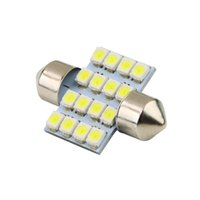 Wholesale LED mm SMD Pure White Dome Festoon LED Car Light Bulb Auto Lamp Interior Lights styling car light source parking