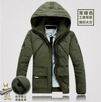 Wholesale Men s fashion authentic new specials cultivate one s morality with thick warm warm hooded white duck down down jacket coat M xl