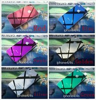 Anti-Scratch body oils - Tempered Glass for iphone4 color Glass D Arc blue golden silver purple black red green mm oil ExplosionProof Film