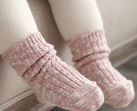 bamboo sock yarn - High Quality Autumn Winter Children baby thicken cotton socks Toddler Kids Slub yarn coloured thread short socks T1125