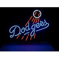 angeles tube - MLB LOS ANGELES DODGERS LOGO HANDICRAFT NEON SIGN REAL GLASS TUBE LIGHT BEER BAR PUB STORE x14 quot
