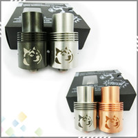 Replaceable 3.5ml Metal Rebuildable Doge V2 Atomizer Clone RDA Doge Tank E Cigarette Vaporizer 22mm Stainless Steel Black Copper 3 colors DHL Free