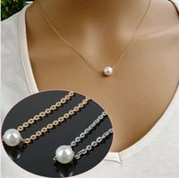 Wholesale Korean Jewelry Vintage Cute Simple Imitation Pearl Necklace Jewelry Accessories For Women Girl Fashion Temperament Short Free JN06281