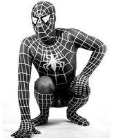 al por mayor negro hombre araña para los niños-No Smells Calidad Grado 90-190cm Spider-man Disfraces Lycra Spandex Increíble Zentai Adultos Niños Negro Spiderman Halloween Traje Para Niños