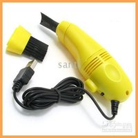 Wholesale Creative USB Ultra Mini Keyboard Mini Vacuum Cleaner Clean easy to use color random fat