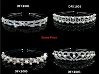 Wholesale 2016 Fashion Pearls Cystal Wedding Princess Tiara Rhinestone Bridal Headbands Pageant Bridal Crowns Wedding Jewelery Hair Accessories Cheap