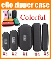 electronic cigarette case - Portable eGo leather case electronic cigarette carry case zipper pouch e cig ego carrying case for ego ce4 e cig e cig battery kit FJ003