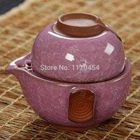 tea cups - Upscale gift Gaiwan Multiple Colors Ice Crack Glaze Quik Cup Ceramic Tea Sets Crackle Glaze Kung Fu Tea Porcelain Cup Quik Cup