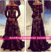 arab specials - 2015 Hot Sexy Black Lace Evening Dresses Zuhair Murad Couture Designer Inspired Arab Sexy Arabic Formal Wear Special Occasion Prom Ball Gown